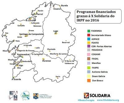 Campaña Rentarapia. Programas financiados en Galicia gracias a la X Solidaria.